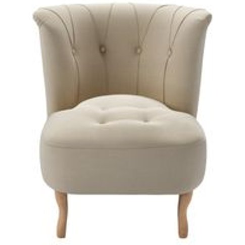 Evie Armchair In Moon Smart Cotton
