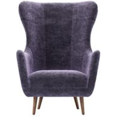 Louis Armchair In Thistle Roosevelt Velvet