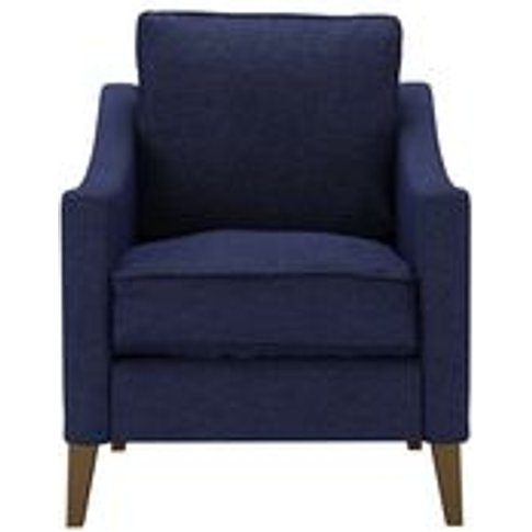 Iggy Armchair In Woad Soft Wool