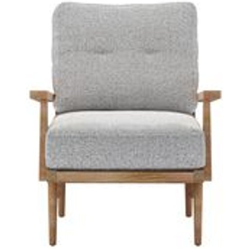 Hendrik Armchair In Hedgehog Dappled Viscose Wool