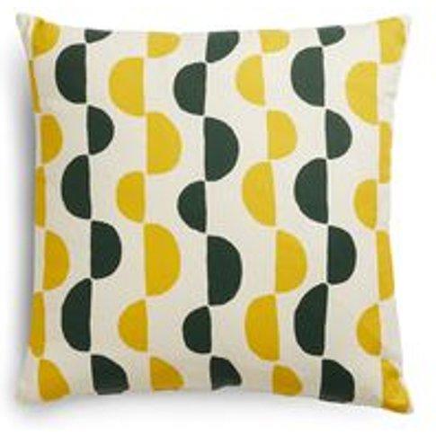 55x55cm Scatter Cushion In Yolk Gail Bryson Twist