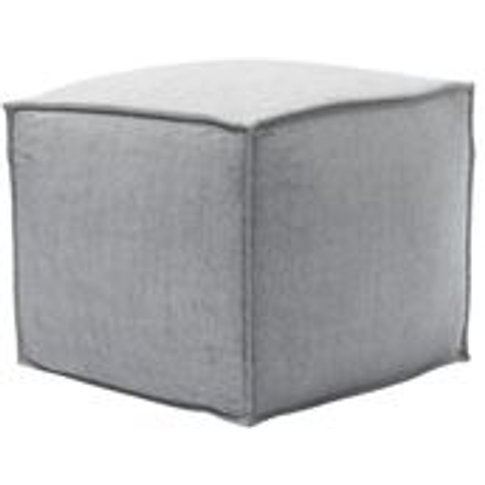 Isaac Small Square Footstool In Goodwin Grey Sandgate