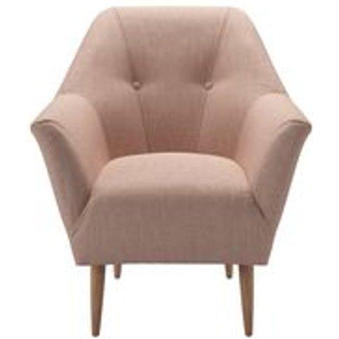 Minnie Armchair In Blush Pure Belgian Linen