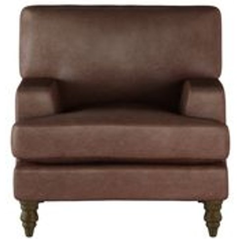 Isla Small Armchair In Satchel Vintage Leather