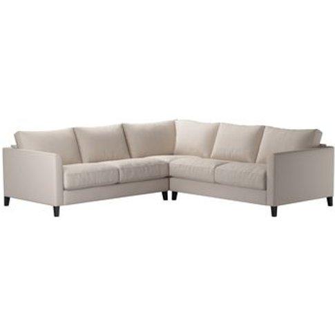 Izzy Small Corner Sofa In Oat Smart Linen