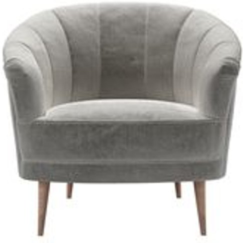 Harper Armchair In Squirrel Cotton Matt Velvet