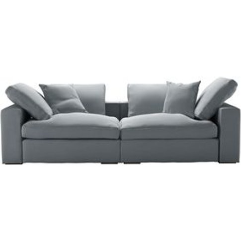 Long Island 2 Seat Sofa In Sealion Smart Cotton