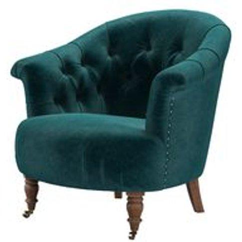 Bertie Armchair In Jade Smart Velvet