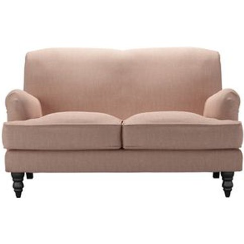 Snowdrop 2 Seat Sofa In Blush Pure Belgian Linen