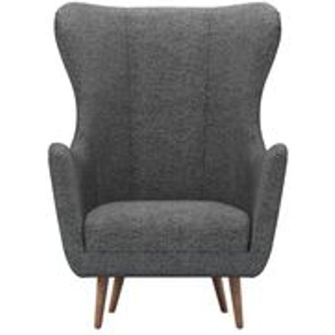 Louis Armchair In Granite Soft Wool