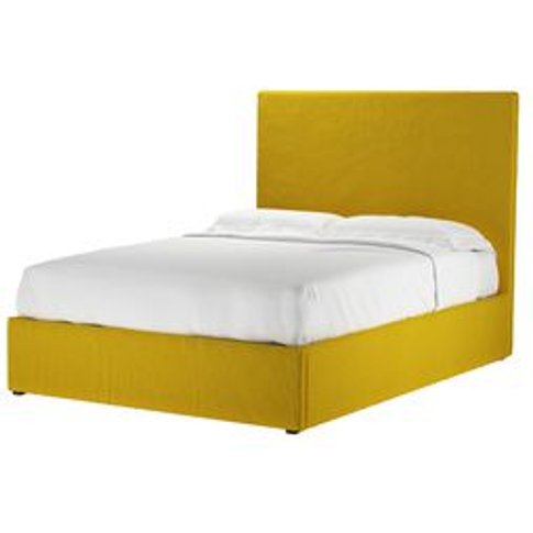 Harlow 130cm Double Ottoman Bed In Canary Cotton Mat...