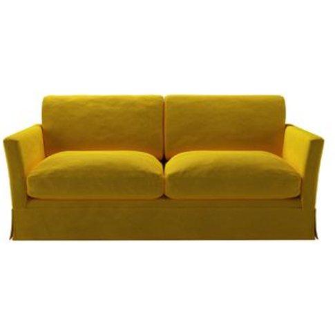 Otto 2.5 Seat Sofa Bed In Canary Cotton Matt Velvet