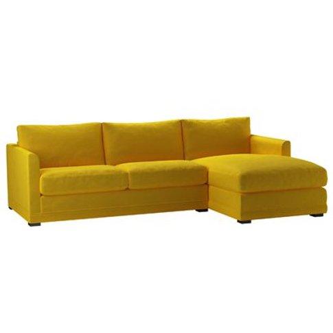 Aissa Medium Rhf Chaise Sofa In Canary Cotton Matt V...