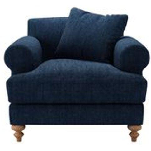 Teddy Armchair In Channel Blue Sandgate