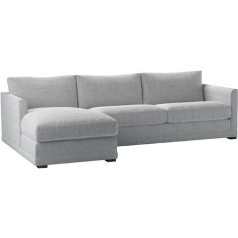 Aissa Large Lhf Chaise Sofa In Diamond Weave Mist Ss...