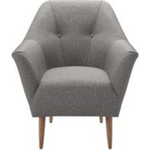 Minnie Armchair In Badger Dappled Viscose Wool
