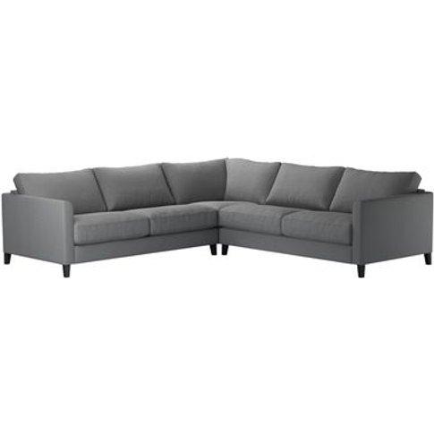 Izzy Medium Corner Sofa In Shadow Brushed Linen Cotton