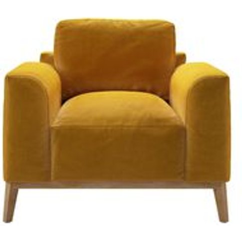 Freddie Armchair In Butterscotch Cotton Matt Velvet