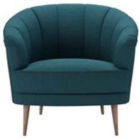 Harper Armchair In Evergreen Brushed Linen Cotton