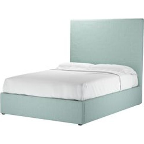 Harlow 150cm Double Ottoman Bed In Cambridge Blue Pu...