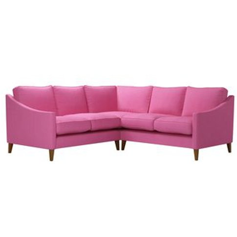 Iggy Small Corner Sofa In Bubblegum Pick 'N' Mix Cotton