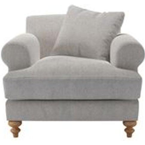 Teddy Armchair In Rye Baylee Viscose Linen