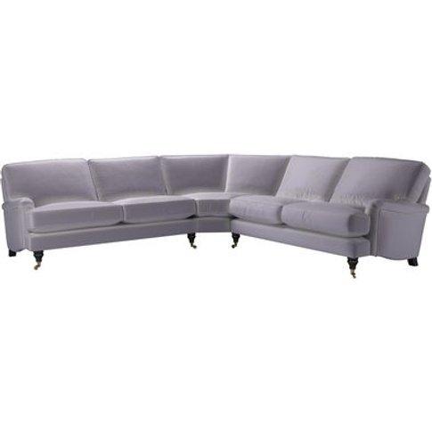 Bluebell Large Corner Sofa In Chicory Cotton Matt Ve...
