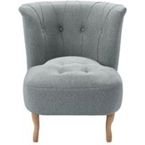 Evie Armchair In Cirrus Smart Slubby Cotton