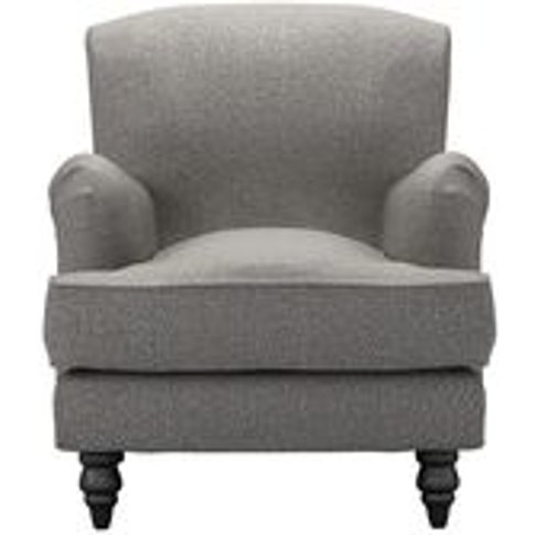 Snowdrop Small Armchair In Badger Dappled Viscose Wool