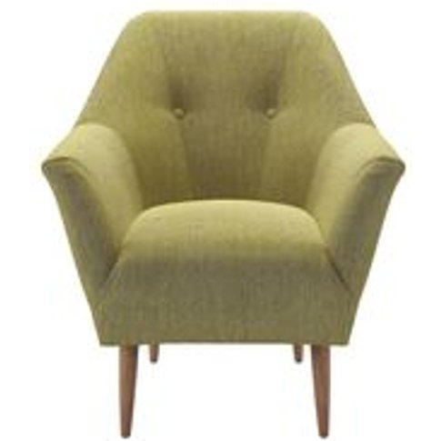 Minnie Armchair In Chartreuse Chenille