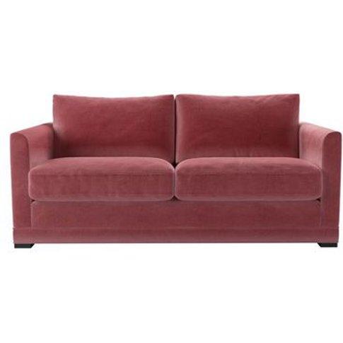 Aissa 2.5 Seat Sofa In Dusty Rose Cotton Matt Velvet