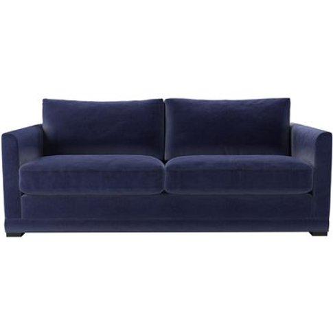 Aissa 3 Seat Sofa (Breaks Down) In Prussian Blue Cotton Matt Velvet