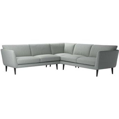 Holly Medium Corner Sofa In Nickel Hawthorn Stencil