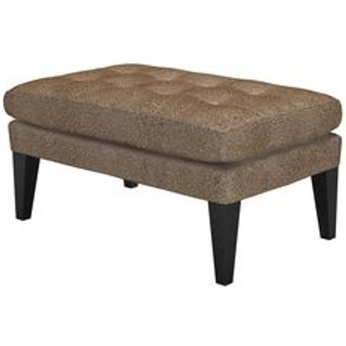 Club Small Rectangular Footstool In Light Natural Le...