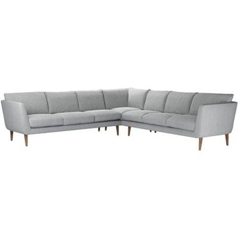 Holly Large Corner Sofa In Beluga Chenille