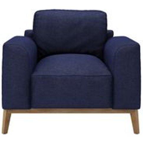 Freddie Armchair In Woad Soft Wool