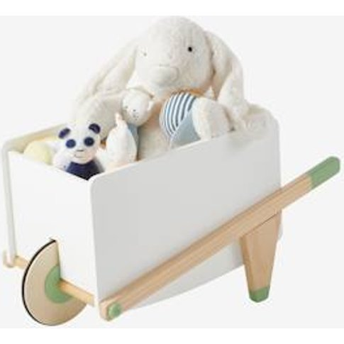 Wheelbarrow-Shaped Storage Box White Light Solid