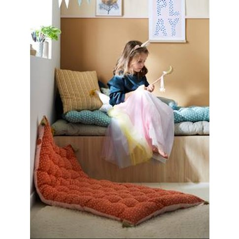 Dual Fabric Floor Cushion, Leaves Theme Yellow Mediu...