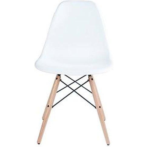 Pair Of Paris Dining Chairs - White