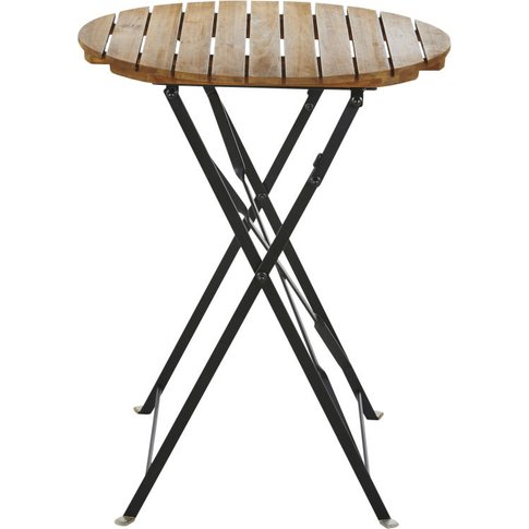 1/2-Person Round Garden Table In Solid Acacia D60cm