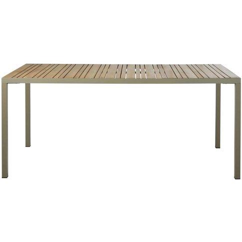 8-Person Garden Table In Teak-Effect Solid Acacia An...