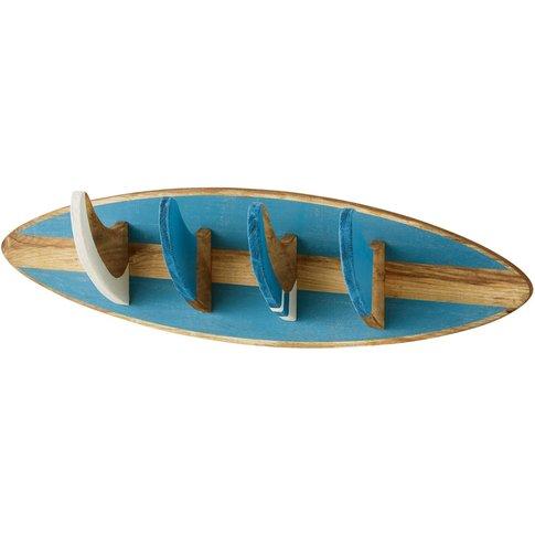 Blue 4-Hook Coat Rack