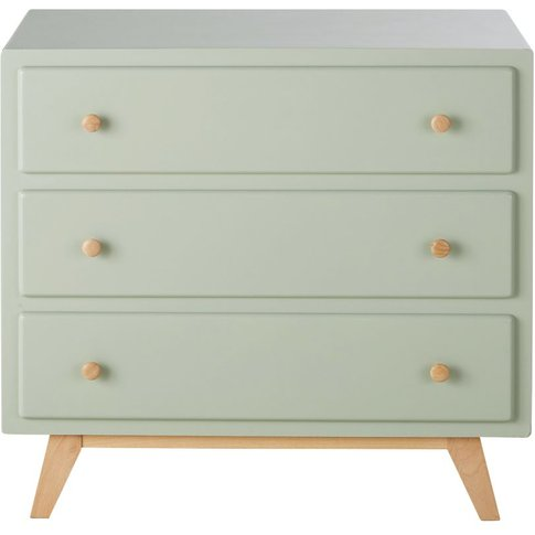 Green 3-Drawer Dresser Compatible With Changing Table