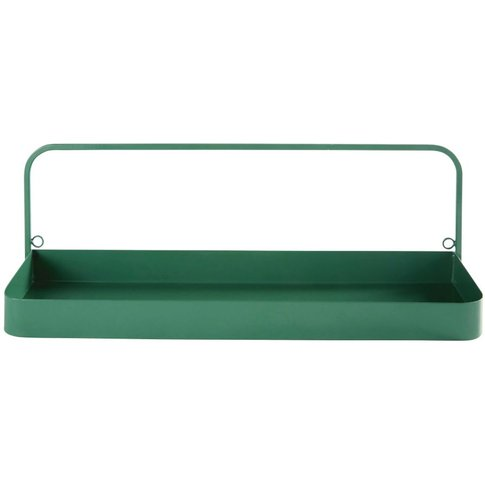 Green Metal Wall-Mount Shelving Unit