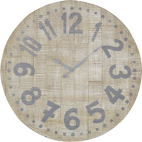 Grey And White Clock D100cm