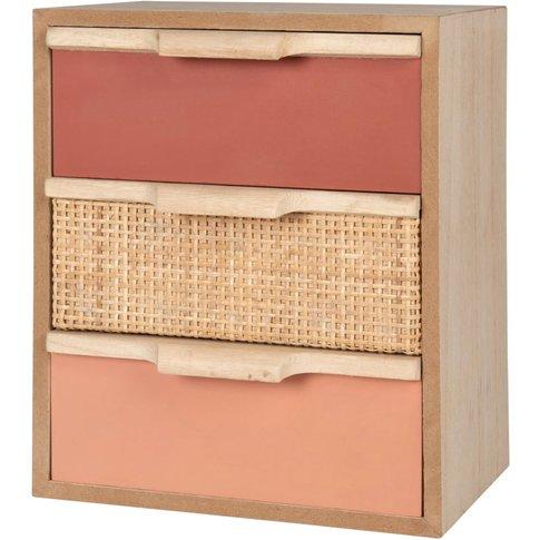 Pink 3-Drawer Storage Unit