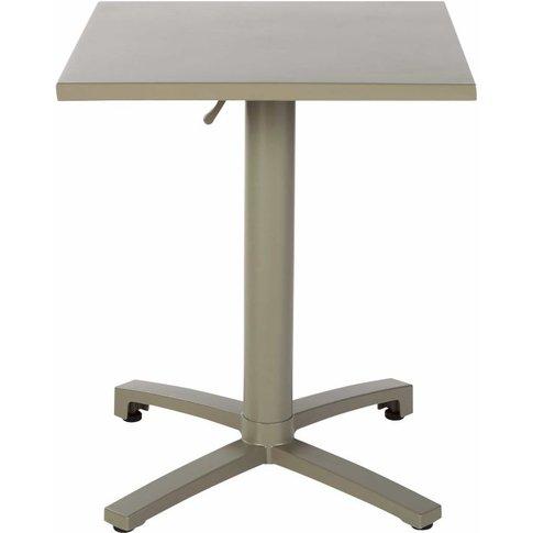 Professional Khaki Metal Garden Table W60
