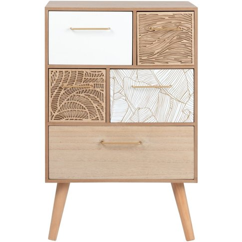 Small 5-Drawer Storage Unit With Print