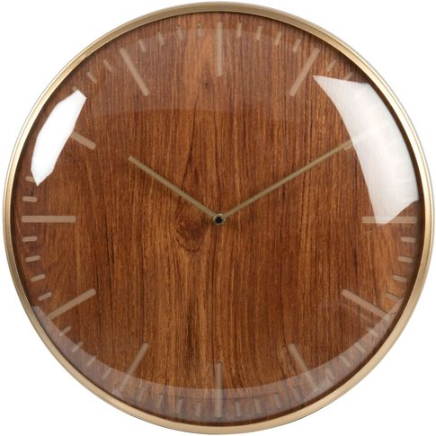 Two-Tone Engraved Clock D43cm