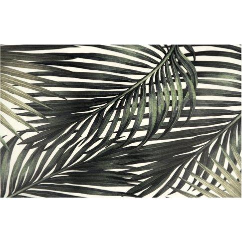 Vinyl Rug With Tropical Leaf Print 50x80